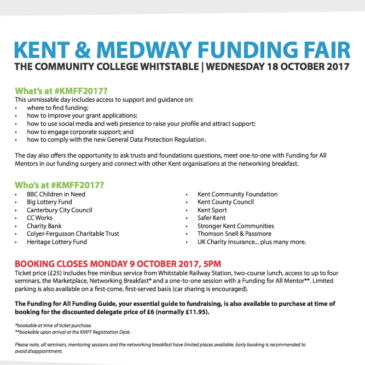 Charities Funding Fair – Kent and Medway Funding Fair