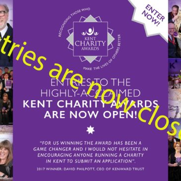 Entries to the 2017/18 Kent Charity Awards are now closed