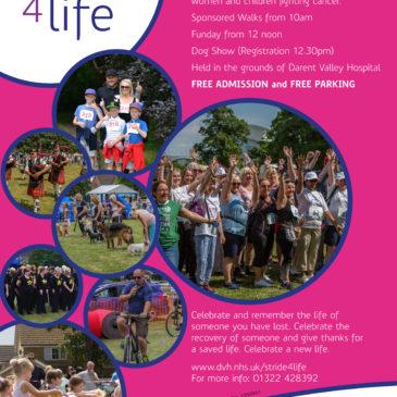 Stride 4 Life fun day – Sunday 8th July 2018