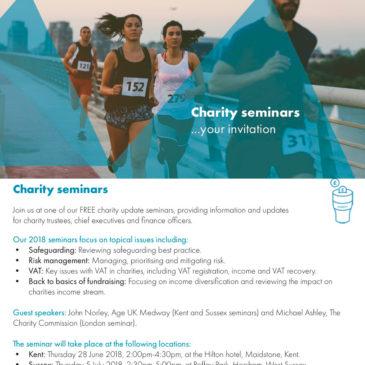 An Invitation to Kreston Reeves Charity Seminar – 28 June